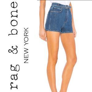 Rag & Bone Derby Jean Shorts Size 32 with Belt